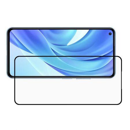 Полноэкранное Закаленное Олеофобное DF Full Screen Защитное Стекло Черное для Xiaomi Mi 11 Lite
