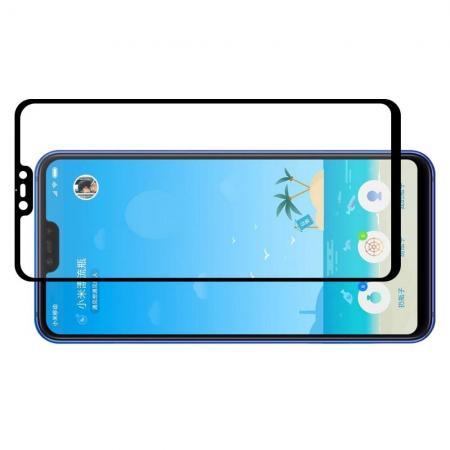 Полноэкранное Закаленное Олеофобное DF Full Screen Защитное Стекло Черное для Xiaomi Mi 8 Lite