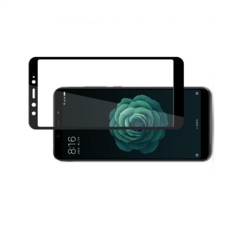 Полноэкранное Закаленное Олеофобное DF Full Screen Защитное Стекло Черное для Xiaomi Mi A2 / Mi 6X