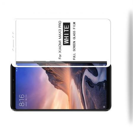 Полноэкранное Закаленное Олеофобное DF Full Screen Защитное Стекло Белое для Xiaomi Mi Max 3
