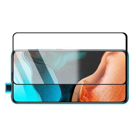 Полноэкранное Закаленное Олеофобное DF Full Screen Защитное Стекло Черное для Xiaomi Poco F2 Pro