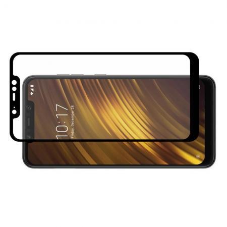 Полноэкранное Закаленное Олеофобное DF Full Screen Защитное Стекло Черное для Xiaomi Pocophone F1