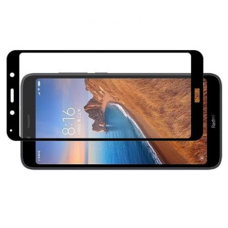 Полноэкранное Закаленное Олеофобное DF Full Screen Защитное Стекло Черное для Xiaomi Redmi 7A