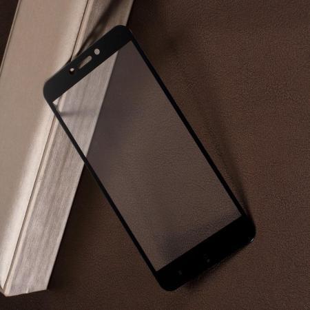 Полноэкранное Закаленное Олеофобное DF Full Screen Защитное Стекло Черное для Xiaomi Redmi Go