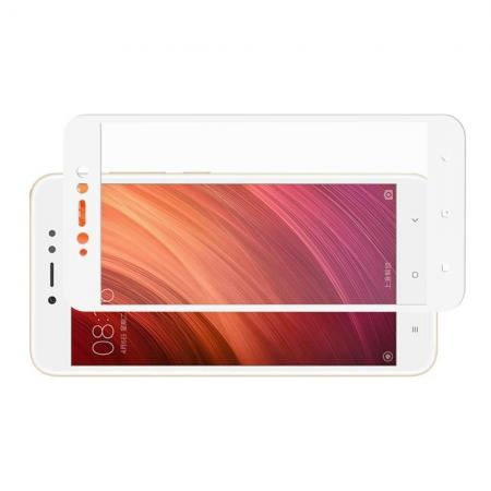 Полноэкранное Закаленное Олеофобное DF Full Screen Защитное Стекло Белое для Xiaomi Redmi Note 5A 2/16gb