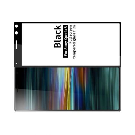 Полноэкранное Закаленное Олеофобное DF Full Screen Защитное Стекло Прозрачное для Sony Xperia 8