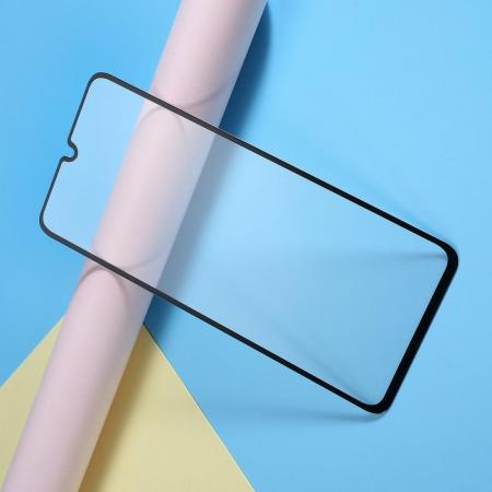 Полноклеевое Full Glue Cover 3D Red Line Черное Защитное Стекло на Экран Samsung Galaxy A70