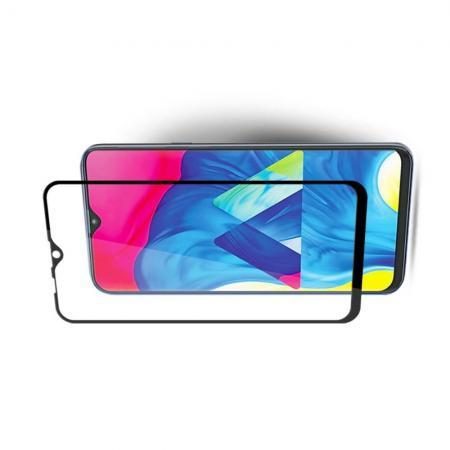 Полноклеевое Full Glue Cover 3D Red Line Черное Защитное Стекло на Экран Samsung Galaxy M10