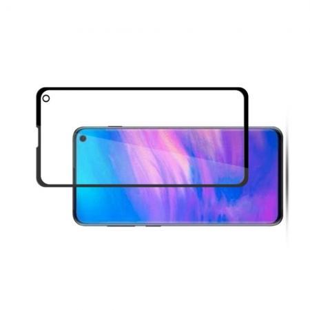 Полноклеевое Full Glue Cover 3D Red Line Черное Защитное Стекло на Экран Samsung Galaxy S10e