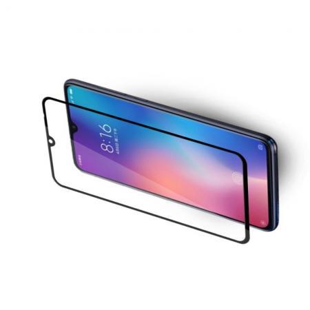 Полноклеевое Full Glue Cover 3D Red Line Черное Защитное Стекло на Экран Xiaomi Mi 9