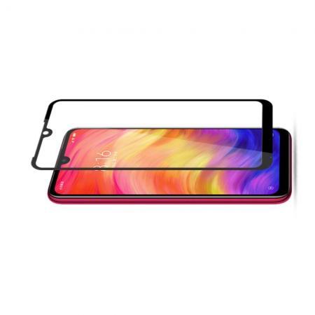 Полноклеевое Full Glue Cover 3D Red Line Черное Защитное Стекло на Экран Xiaomi Redmi Note 7 / Note 7 Pro