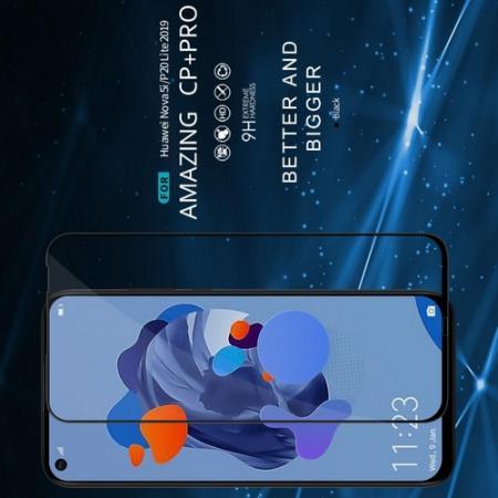 Полноразмерное Изогнутое Закаленное NILLKIN 3D CP+ Черное Стекло для Huawei nova 5i / P20 lite 2019