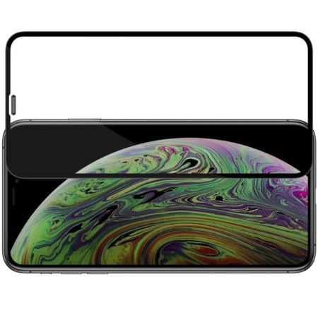 Полноразмерное Изогнутое Закаленное NILLKIN 3D CP+ Черное Стекло для iPhone 11 Pro Max