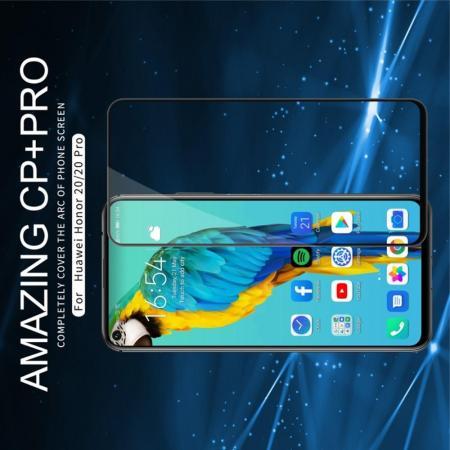 Полноразмерное Закаленное NILLKIN CP+ Черное Стекло для Huawei Honor 20 / 20 Pro