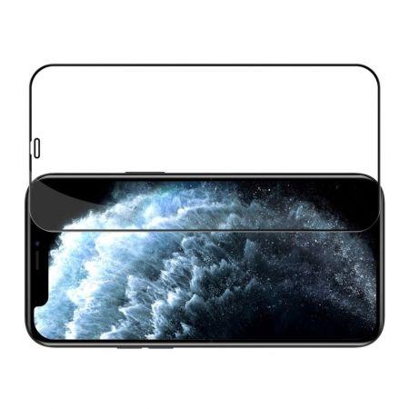Полноразмерное Изогнутое Закаленное NILLKIN CP+ Черное Стекло для iPhone 12 / 12 Pro