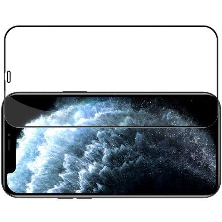 Полноразмерное Изогнутое Закаленное NILLKIN CP+ Черное Стекло для iPhone 12 mini