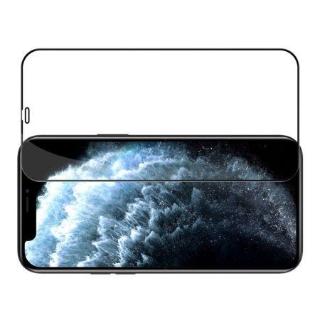 Полноразмерное Изогнутое Закаленное NILLKIN CP+ Черное Стекло для iPhone 12 Pro Max