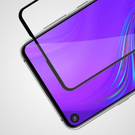 Полноразмерное Изогнутое Закаленное NILLKIN CP+ Черное Стекло для Samsung Galaxy A8s