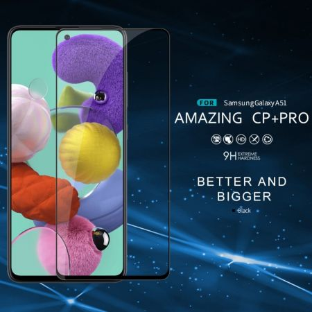 Полноразмерное Изогнутое Закаленное NILLKIN CP+ Прозрачное Стекло для Samsung Galaxy A51