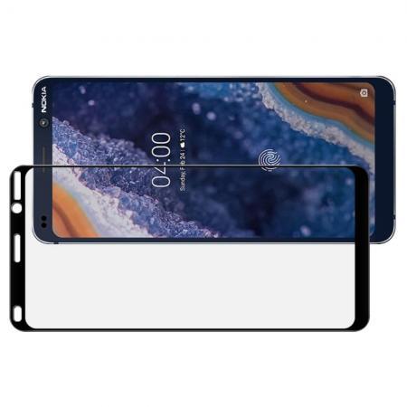 Полноразмерное Закаленное Защитное IMAK Full Screen Стекло для Экрана Nokia 9 PureView Черная рамка