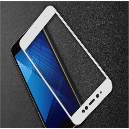 Полноразмерное Закаленное Защитное IMAK Full Screen Стекло для Экрана Xiaomi Redmi Note 5A Prime 3/32gb 4/64gb Белая рамка