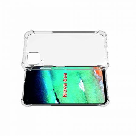 Противоударный прозрачный кейс с силиконовым бампером для Huawei P40 Lite / P40 Lite Прозрачный