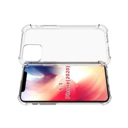 Противоударный прозрачный кейс с силиконовым бампером для iPhone 12 Pro 6.1 Прозрачный