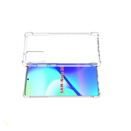 Противоударный прозрачный кейс с силиконовым бампером для Samsung Galaxy Note 20 Прозрачный