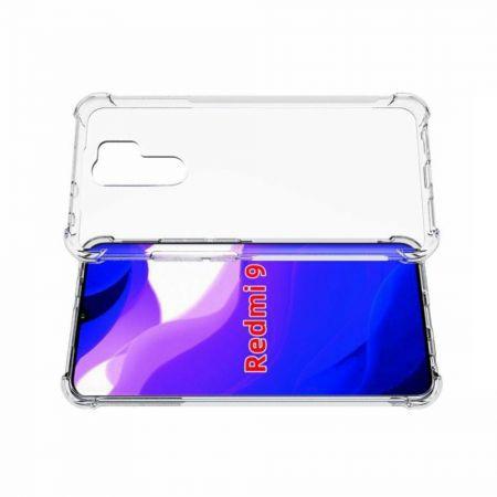 Противоударный прозрачный кейс с силиконовым бампером для Xiaomi Redmi 9