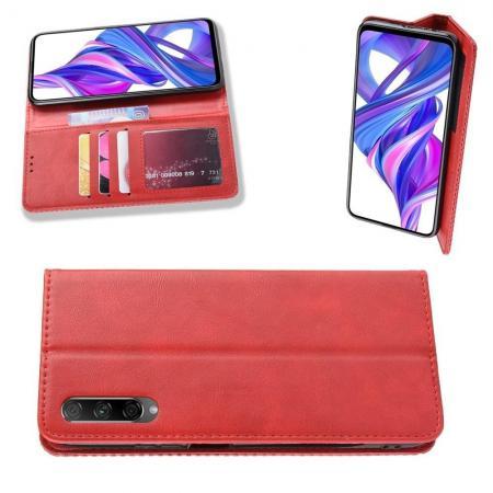 PU Кожаный Чехол Автоматическое Закрывание Подставка и Кошелёк для Huawei Honor 9X Pro / Honor 9X Красный