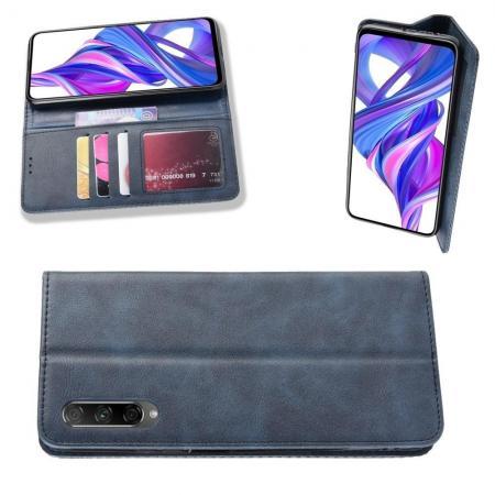 PU Кожаный Чехол Автоматическое Закрывание Подставка и Кошелёк для Huawei Honor 9X Pro / Honor 9X Синий