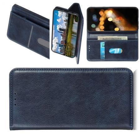PU Кожаный Чехол Автоматическое Закрывание Подставка и Кошелёк для Huawei Honor 9X Pro Синий