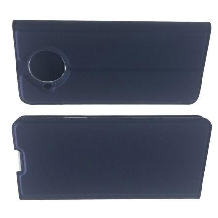 PU Кожаный Чехол Автоматическое Закрывание Подставка и Кошелёк для Nokia 8.3 5G Синий