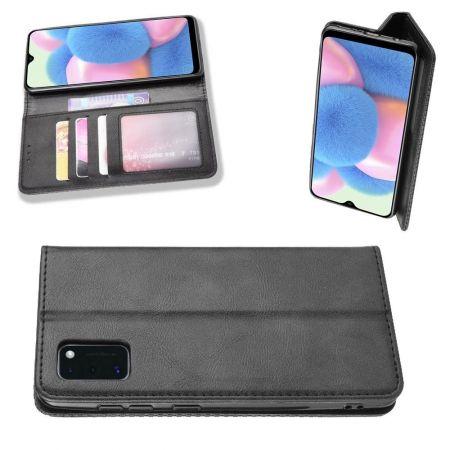 PU Кожаный Чехол Автоматическое Закрывание Подставка и Кошелёк для Samsung Galaxy A41 Черный