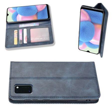 PU Кожаный Чехол Автоматическое Закрывание Подставка и Кошелёк для Samsung Galaxy A41 Синий