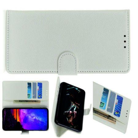 PU Кожаный Чехол Автоматическое Закрывание Подставка и Кошелёк для Samsung Galaxy A70s Белый