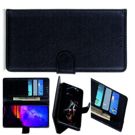 PU Кожаный Чехол Автоматическое Закрывание Подставка и Кошелёк для Samsung Galaxy A70s Черный