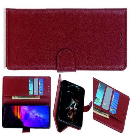PU Кожаный Чехол Автоматическое Закрывание Подставка и Кошелёк для Samsung Galaxy A70s Коричневый