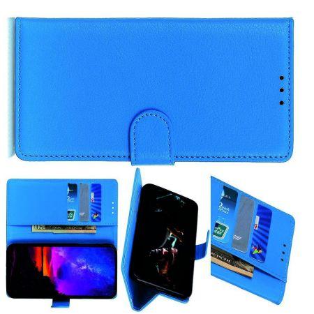 PU Кожаный Чехол Автоматическое Закрывание Подставка и Кошелёк для Samsung Galaxy A70s Синий