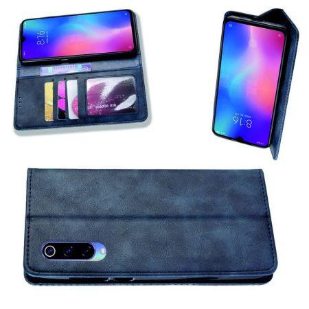 PU Кожаный Чехол Автоматическое Закрывание Подставка и Кошелёк для Xiaomi Mi 9 Lite Синий