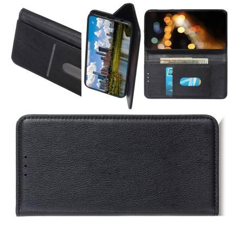 PU Кожаный Чехол Автоматическое Закрывание Подставка и Кошелёк для Xiaomi Mi A3 Черный