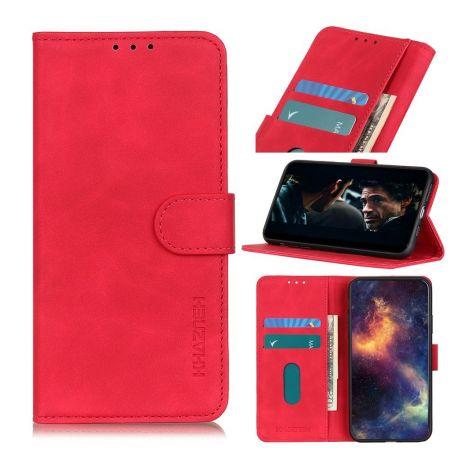 PU Кожаный Чехол Автоматическое Закрывание Подставка и Кошелёк для Xiaomi Redmi 9A Красный