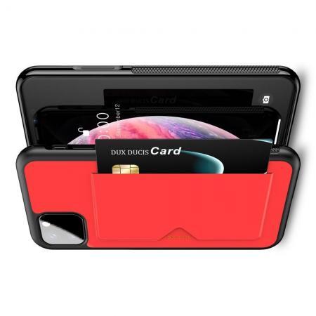 PU Кожаный Чехол для Телефона Dux Ducis Skin Lite для iPhone 11 Pro Противоскользящий Ударопрочный Красный