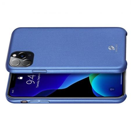 PU Кожаный Чехол для Телефона Dux Ducis Skin Lite для iPhone 11 Pro Противоскользящий Ударопрочный Синий