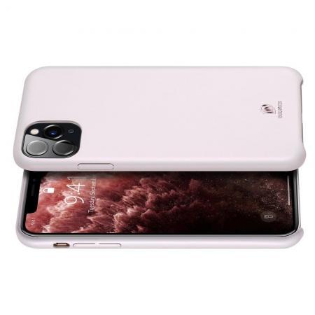 PU Кожаный Чехол для Телефона Dux Ducis Skin Lite для iPhone 11 Pro Противоскользящий Ударопрочный Светло Розовый