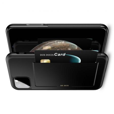 PU Кожаный Чехол для Телефона Dux Ducis Skin Lite для iPhone 11 Противоскользящий Ударопрочный Черный