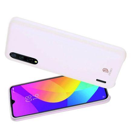 PU Кожаный Чехол для Телефона Dux Ducis Skin Lite для Xiaomi Mi 9 Lite Противоскользящий Ударопрочный Светло Розовый