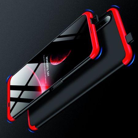 Съемный 360 GKK Матовый Жесткий Пластиковый Чехол для Huawei Honor 9X Красный / Черный