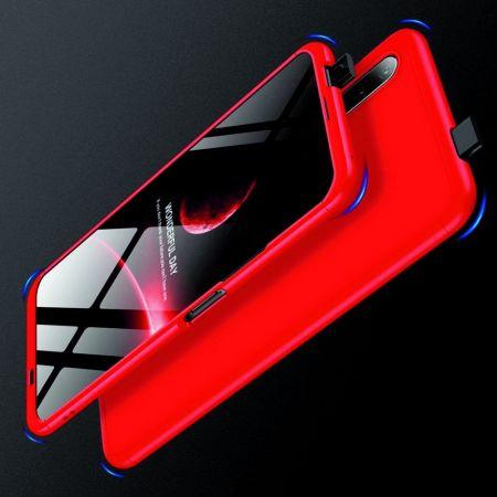 Съемный 360 GKK Матовый Жесткий Пластиковый Чехол для Huawei Honor 9X Красный