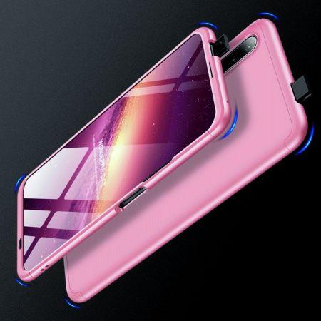 Съемный 360 GKK Матовый Жесткий Пластиковый Чехол для Huawei Honor 9X Розовый